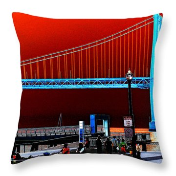 Throw Pillow featuring the photograph San Francisco Unique Processing by Maggy Marsh