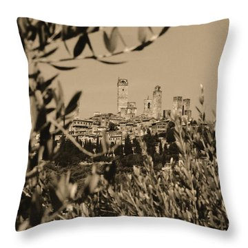 San Gimignano II Throw Pillow