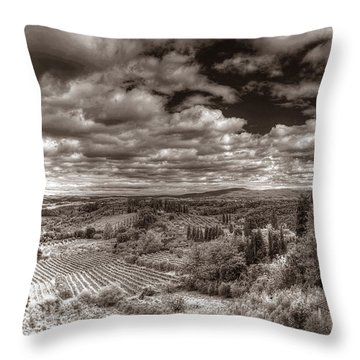 San Gimignano View Throw Pillow