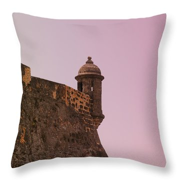 San Juan - City Lookout Post Throw Pillow
