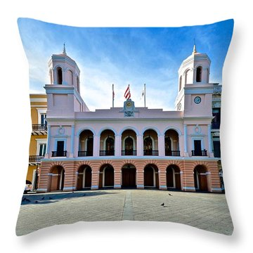 San Juan City Hall Throw Pillow