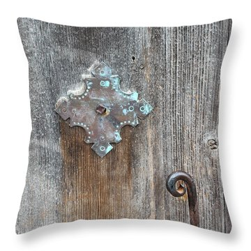 San Juan Door Detail With Latch Throw Pillow