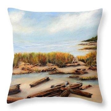 San Juan Islands Throw Pillow by Marti Green
