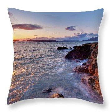San Juans Serenity Throw Pillow by Mike Reid