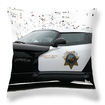 San Luis Obispo County Sheriff Viper Patrol Car Throw Pillow
