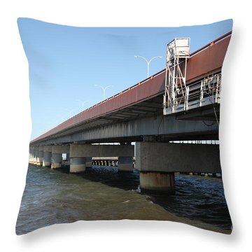 San Mateo Bridge Throw Pillows
