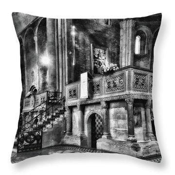San Michele Toward The Altar Throw Pillow