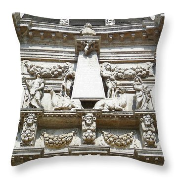 San Moise Church In Venice Italy  Throw Pillow
