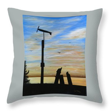San Onofre Sunrise Throw Pillow