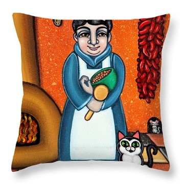 San Pascual And Felix Throw Pillow by Victoria De Almeida