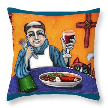 San Pascual Cheers Throw Pillow by Victoria De Almeida