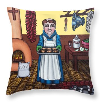 San Pascuals Empanaditas Throw Pillow