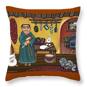 San Pascuals Kitchen Throw Pillow by Victoria De Almeida