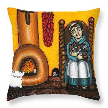 San Pascuals Nap Throw Pillow by Victoria De Almeida