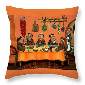San Pascuals Table Throw Pillow by Victoria De Almeida