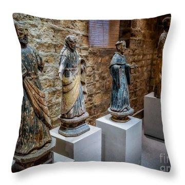 San Pedro Statue Throw Pillow
