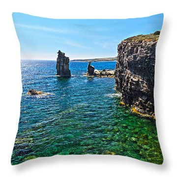 San Pietro Island - Le Colonne Throw Pillow