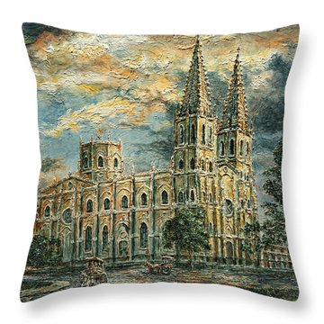 San Sebastian Church 1800s Throw Pillow