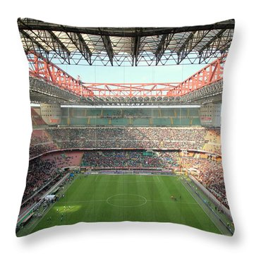 San Siro Stadium Throw Pillow by Valentino Visentini