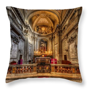 San Vincenzo Trevi Throw Pillow by Yhun Suarez