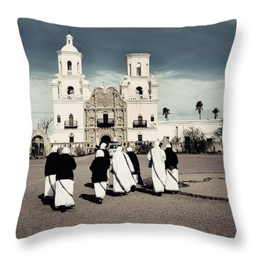 Desert Pilgrimage Throw Pillow