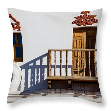 San Xavier Swirl Throw Pillow by Beverly Parks