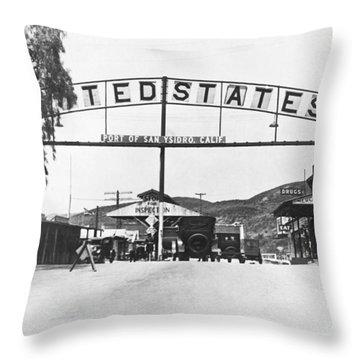 San Ysidro Border Crossing Throw Pillow