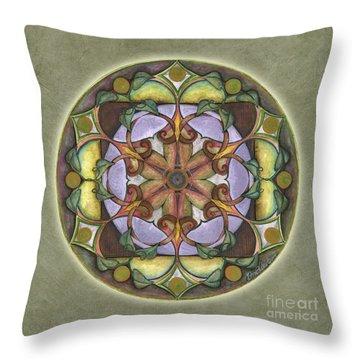 Sanctuary Mandala Throw Pillow