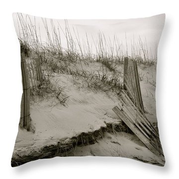 Sand And Fences Throw Pillow