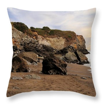 Sand And Rocks Throw Pillow