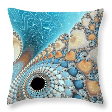 Sand And Sea Throw Pillow by Heidi Smith