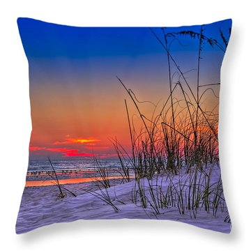 Sand And Sea Throw Pillow by Marvin Spates