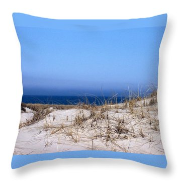 Sand And Sky Throw Pillow by Catherine Gagne