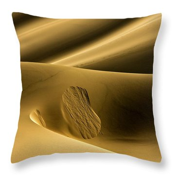 Sand Avalanche Throw Pillow
