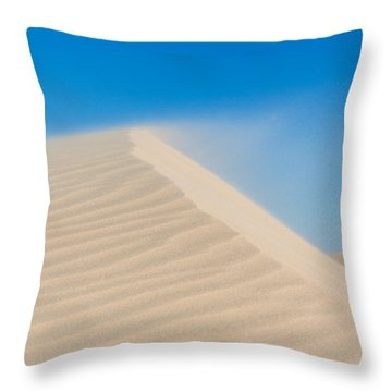 Sand Blowing Off A Dune Throw Pillow