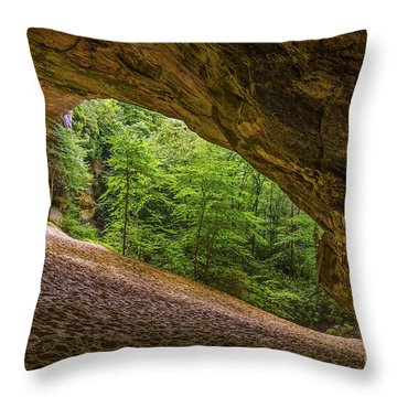 Sand Cave Throw Pillow by Anthony Heflin