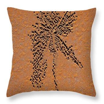 Sand Crab Patterns 2 Throw Pillow by Jocelyn Kahawai
