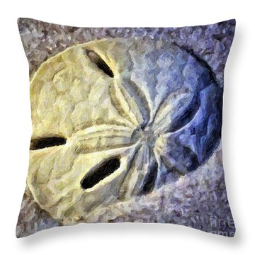 Sand Dollar 1 Throw Pillow by Walt Foegelle