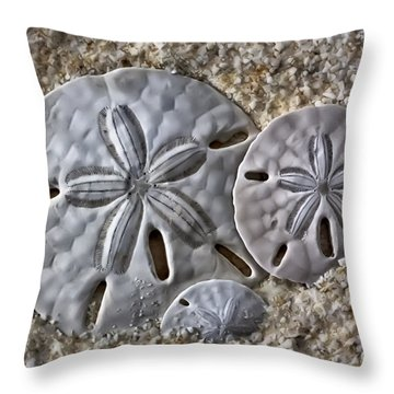 Sand Dollars 2106 Throw Pillow by Walt Foegelle