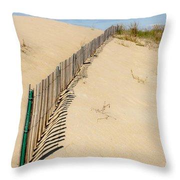 Sand Dune Fence Throw Pillow