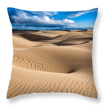 Sand Dune Vortex Throw Pillow