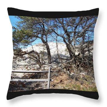 Sand Dune With Trees Throw Pillow by Catherine Gagne