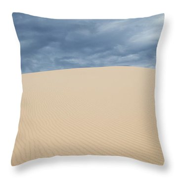 Sand Dunes And Dark Clouds Throw Pillow