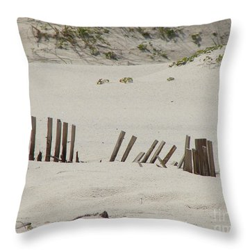 Sand Dunes At Gulf Shores Throw Pillow