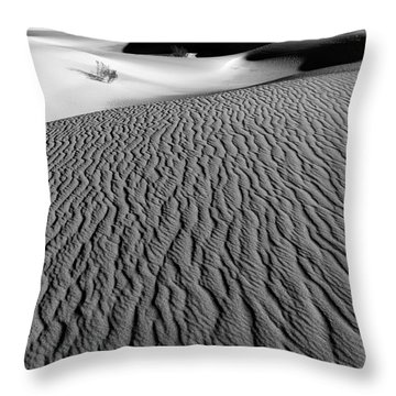 Sand Dunes - Bw Throw Pillow