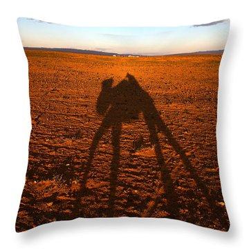Sand Dunes In The Gobi Desert  Bactrian Throw Pillow