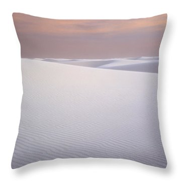 Sand Dunes Of Gypsum In The Morning Throw Pillow