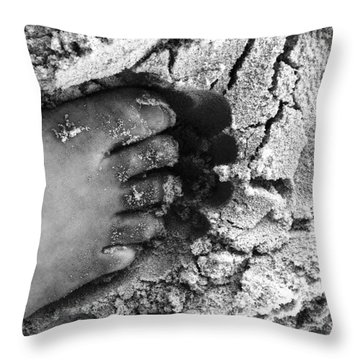 Sand Foot Throw Pillow