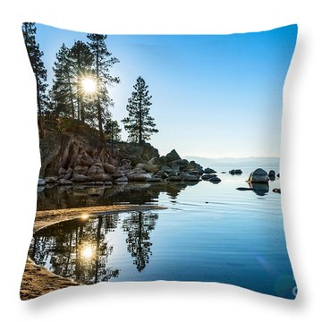 Sand Harbor Cove Throw Pillow