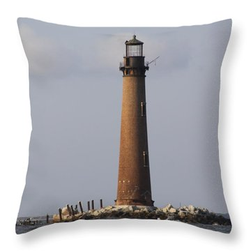 Sand Island Lighthouse - Once 40 Acres Throw Pillow by Travis Truelove